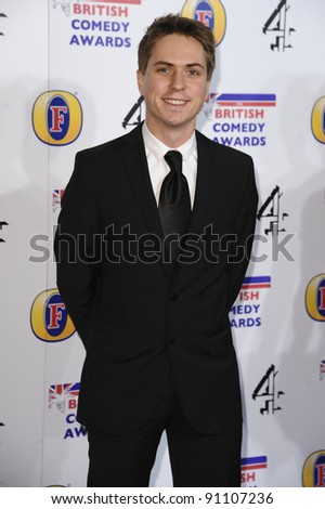 Joe Thomas arriving for the British Comedy Awards 2011 at Fountains Studios, Wembley, London. 19/12/2011 Picture by: Steve Vas / Featureflash