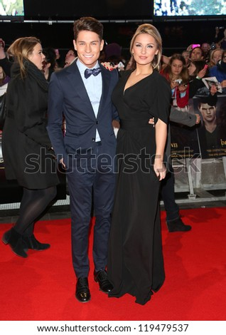 "Joey Essex and Sam Faiers arriving for the ""The Twilight Saga: Breaking Dawn Part 2"" premiere at the Odeon Leicester Square, London. 14/11/2012 Picture by: Henry Harris"