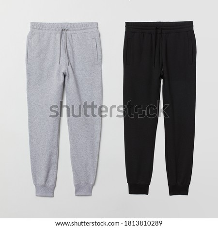 Jogger black and heather grey color isolated on background Photo stock ©