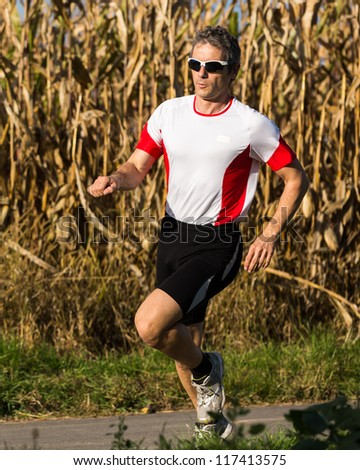 jogger in a marathon competition