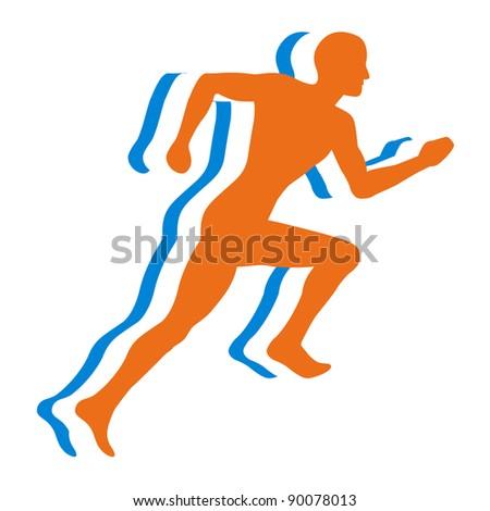 Jogging - Bitmap Illustration