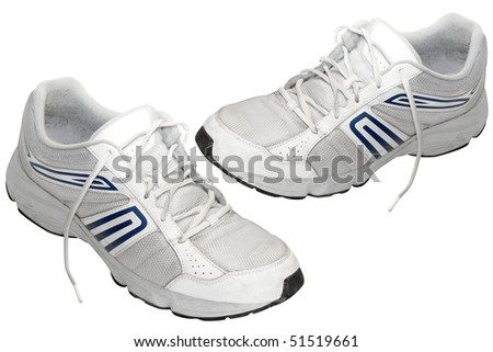 jogging shoes under the white background