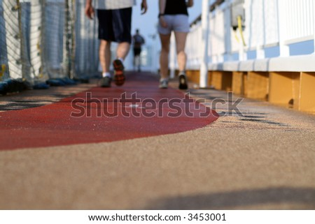 Jogging - Walking on a cruise ship desk 3