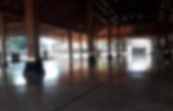 JOGJAKARTA, INDONESIA -November 12, 2020: Interior of old Masjid Besar Mataram Kotagede, Jogjakarta Indonesia. According to history, the mosque was build on 1575. Blur. Blurred.