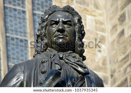 Johann Sebastian Bach Statue in front of St Thomas's Church, Leipzig