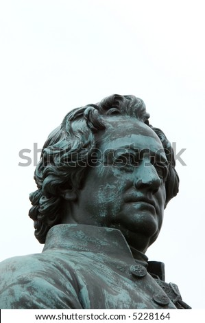Johann Wolfgang Goethe and Friedrich Schiller Monument in Weimar