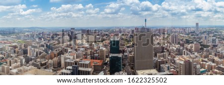 Johannesburg Skyline, Arial View from Africa Tallest building