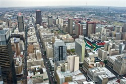 Johannesburg, view from the rooftop.