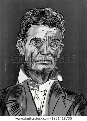 John Brown, militant American abolitionist and veteran of Bleeding Kansas whose raid on the federal arsenal at Harpers Ferry, Virginia Photo stock ©