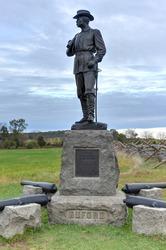 John Buford Memorial monument at the Gettysburg National Military Park, Pennsylvania.