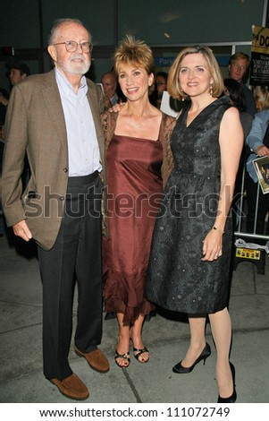 "John Calley with Kathy Baker and Robin Swicord at the premiere of ""The Jane Austen Book Club"". Arclight Hollywood, Hollywood, CA. 09-20-07"