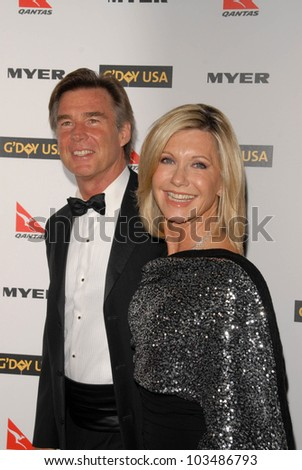 John Easterling and Olivia Newton-John at the G'Day USA Australia Week 2010 Black Tie Gala, Kodak Theater, Hollywood, CA. 01-16-10
