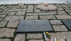 John F. Kennedy and Eternal Flame  Arlington Cemetery Virginia