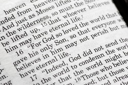 John 3:16 in the Christian Bible, For God so loved the world...