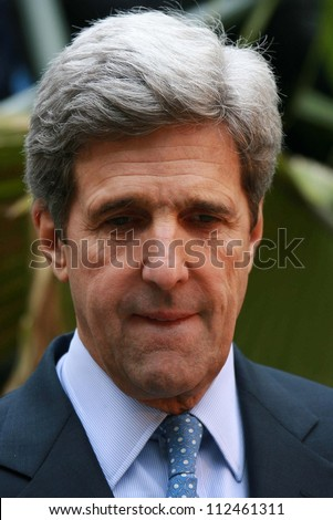 """John Kerry at an instore event to promote the new book """"This Moment on Earth"""". Duttons Brentwood, Los Angeles, CA. 04-04-07 - stock photo"""