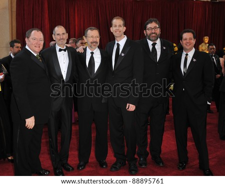 John Lasseter & Steve Jobs & Pete Docter at the 82nd Annual Academy Awards at the Kodak Theatre, Hollywood. March 7, 2010  Los Angeles, CA Picture: Paul Smith / Featureflash