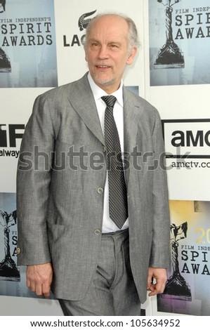 John Malkovich  at the 2009 Film Independent's Spirit Awards. Santa Monica Pier, Santa Monica, CA. 02-21-09