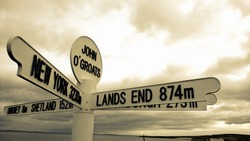 John O Groats at the top of the UK