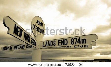 John O Groats at the top of the UK Foto stock ©