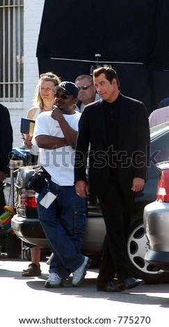 """John Travolta at the filming of his new movie """"Be Cool"""", Hollywood, Ca, 03/17/04"""