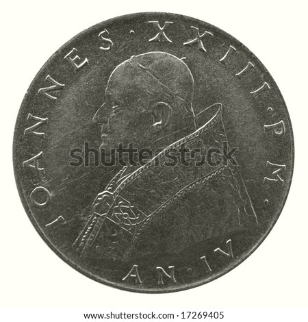 John XXIII pope coin released by the Holy see in Vatican City