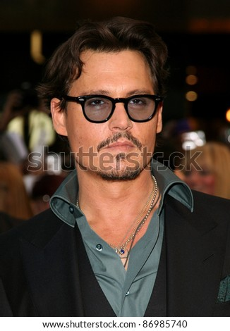 Johnny Depp arriving for the UK premiere of 'Pirates Of The Carribean 4: On Stranger Tides', at Vue Westfield, London. 12/05/2011. Picture by: Alexandra Glen / Featureflash