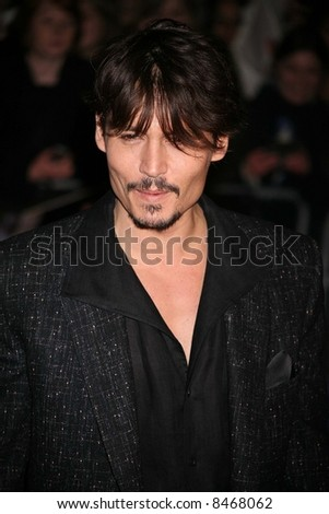 Johnny Depp at the European Premiere of 'Sweeney Todd' at the Odeon Leicester Square on January 10, 2008 in London, England. Credit: Entertainment Press