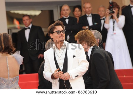 "Johnny Depp at the gala screening for his movie ""Pirates of the Caribbean: On Stranger Tides"" at the 64th Festival de Cannes. May 14, 2011  Cannes, France Picture: Paul Smith / Featureflash"