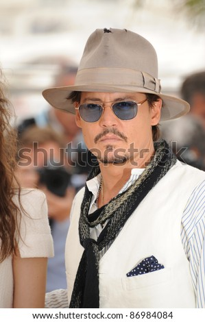 "Johnny Depp at the photocall for his movie ""Pirates of the Caribbean: On Stranger Tides"" at the 64th Festival de Cannes. May 14, 2011  Cannes, France Picture: Paul Smith / Featureflash"