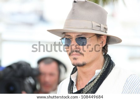 Johnny Depp at the 'Pirates of the Caribbean: On Stranger Tides' Premiere at the 2011 Cannes Film Festival. 14/05/2011 Picture by: Henry Harris / Featureflash - stock photo