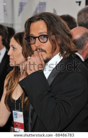 Johnny Depp at the 68th Annual Golden Globe Awards at the Beverly Hilton Hotel. January 16, 2011  Beverly Hills, CA Picture: Paul Smith / Featureflash