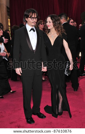 Johnny Depp & Vanessa Paradis at the 80th Annual Academy Awards at the Kodak Theatre, Hollywood, CA. February 24, 2008 Los Angeles, CA Picture: Paul Smith / Featureflash