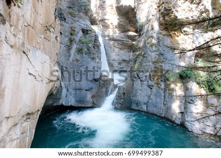 Johnston Canyon Waterfall, Banff Canada