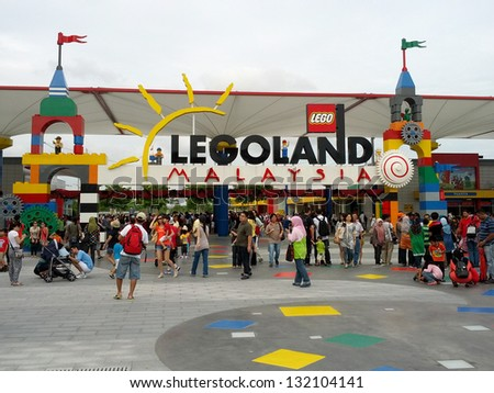 JOHOR - DECEMBER 8: Atmosphere at Legoland Malaysia during school holiday on December 8, 2012 in Johor Malaysia. It is the first Legoland park to open in Asia.