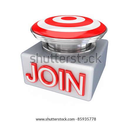 JOIN button.Isolated on white background.3d rendered. - stock photo