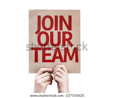 Join Our Team card isolated on white background
