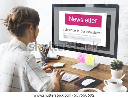 Join Us Register Newsletter Concept