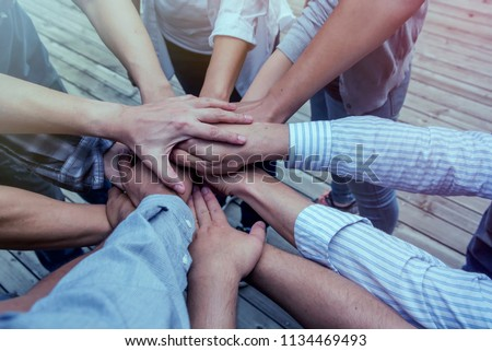 Join Us Team Recruitment Register Membership Hiring and Togetherness Collaboration Concept Stock photo ©