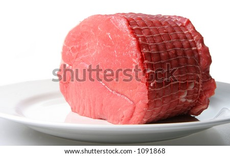 Joint of top rump beef