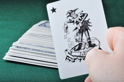 Joker in hand