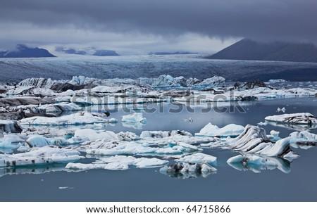 Jokulsarlon Glacial Lagoon, Vatnajokull, Iceland