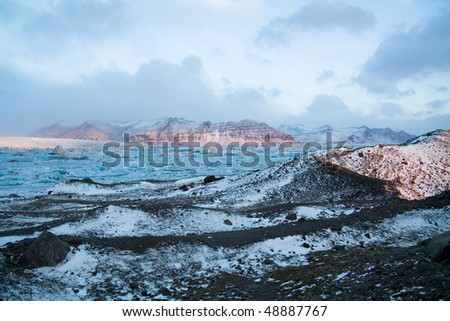Jokulsarlon glacier lake - stock photo