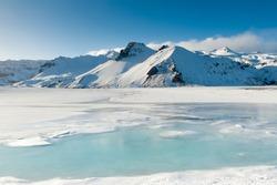Jokulsarlon glacier lake,on the borders of Vatnajokull National