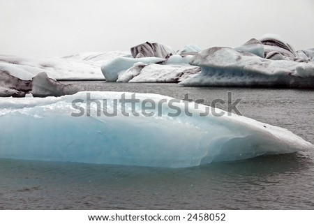 Jokulsarlon, the famous glacial lake in Iceland
