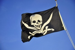 Jolly Roger - Flag of a Pirate skull and crossbones