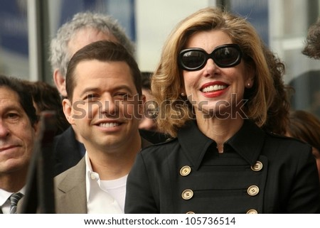 Jon Cryer and Christine Baranski at the Ceremony Honoring Chuck Lorre with the 2,380th Star on the Hollywood Walk of Fame. Hollywood Boulevard, Hollywood, CA. 03-12-09