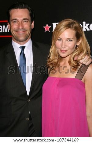 Jon Hamm and Jennifer Westfeldt  at the Wrap Party for Season 2 of 'Mad Men'. Cicada, Los Angeles, CA. 08-23-08