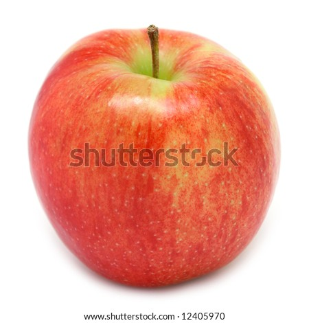 Jonagold apple isolated on white