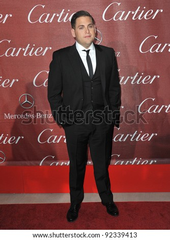 Jonah Hill at the 2012 Palm Springs Film Festival Awards Gala at the Palm Springs Convention Centre. January 7, 2012  Palm Springs, CA Picture: Paul Smith / Featureflash