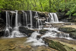 Jonathan Run is a beautiful stream with waterfalls at Ohiopyle State Park in the Laurel Highlands of southwestern Pennsylvania.